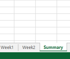 Multiple Sheets in Excel