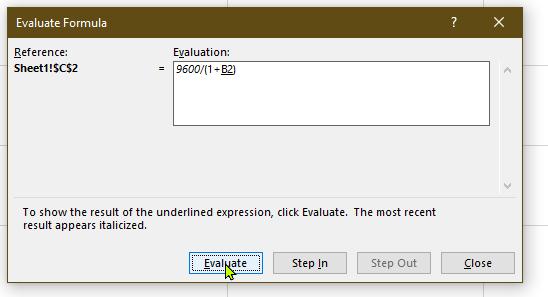 Excel Evaluation Formula - Operator Preference